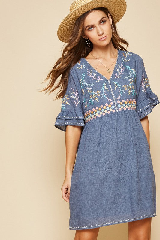 Jane Spring Denim Dress