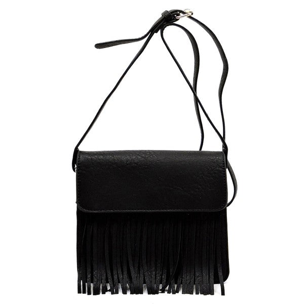 Black Isabelle Fringe Crossbody