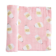 Load image into Gallery viewer, Pink Milk Swaddle Blanket