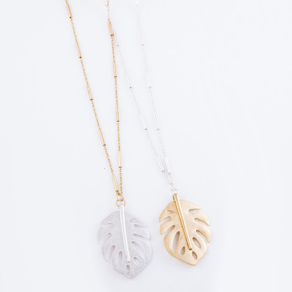 Two Tone Palm Necklace