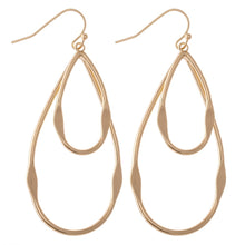 Load image into Gallery viewer, Layer Teardrop Earring-Gold