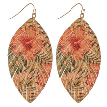 Load image into Gallery viewer, Hibiscus Cork Earring