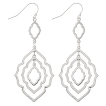Load image into Gallery viewer, Moroccan Link Earring-Silver