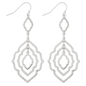 Moroccan Link Earring-Silver