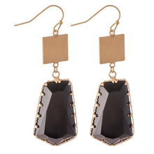 Load image into Gallery viewer, Black Crystal Drop Earring