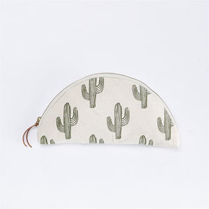 Cactus Canvas Cosmo Bag