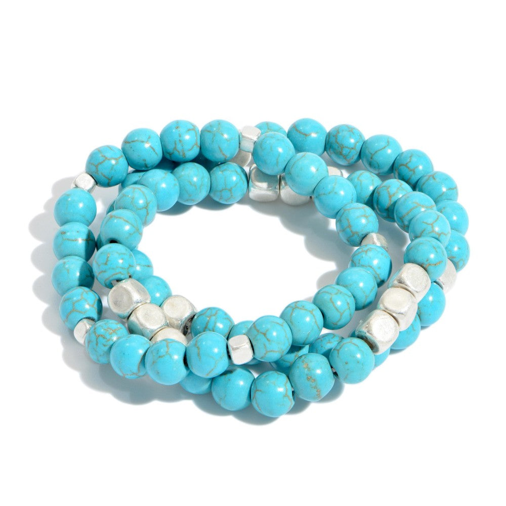 Turquoise Stone Stack