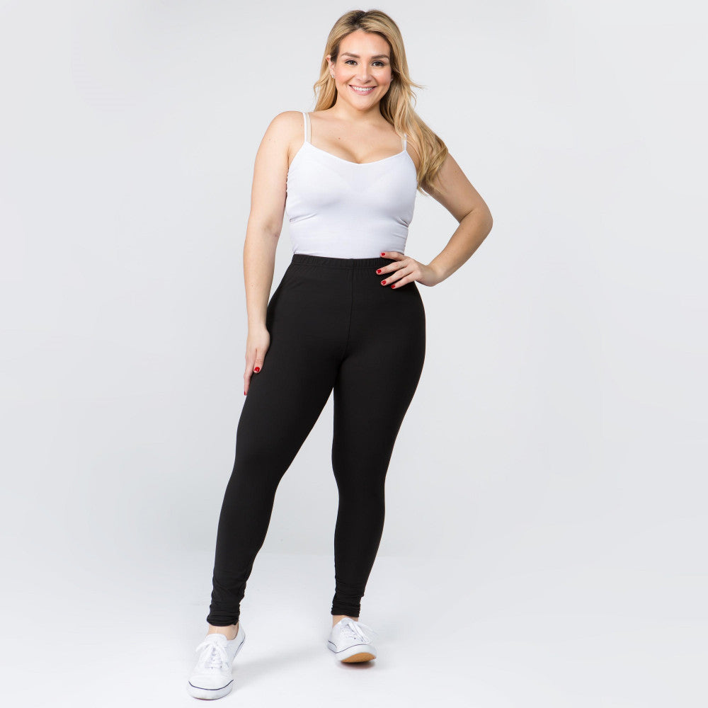 Curvy New Mix Peach Skin Legging