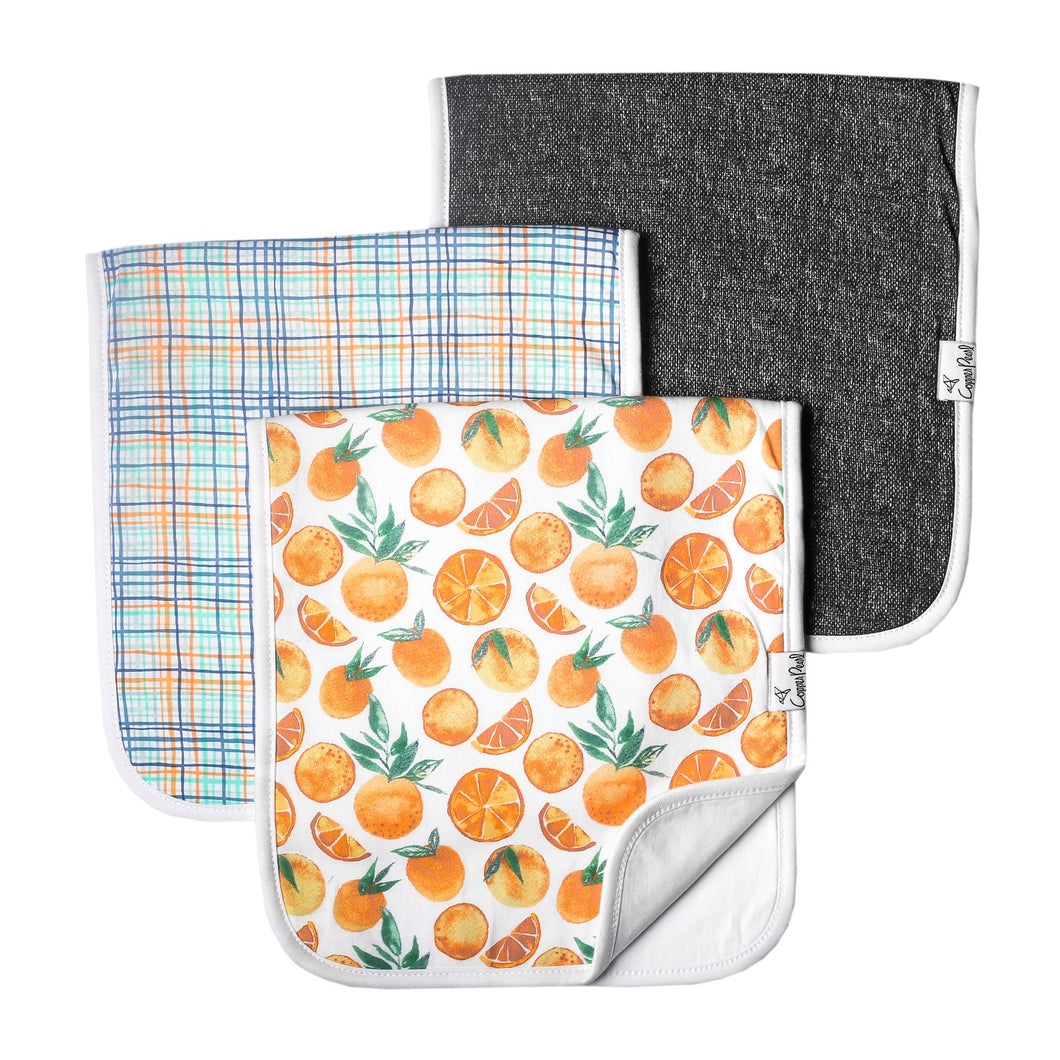 Citrus Burp Cloth Set