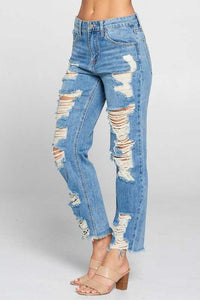 Super Worn Straight Leg Jean