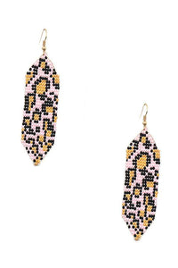 Pink Leo Drop Earring