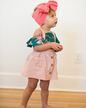 Load image into Gallery viewer, Pink Pocket Suspender Skirt