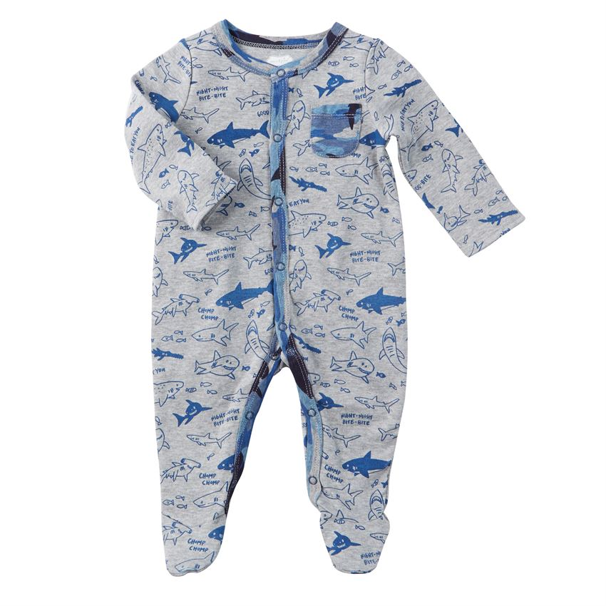 Shark Print Sleeper