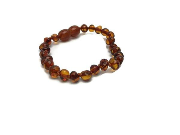 Polished Amber Teething Anklet