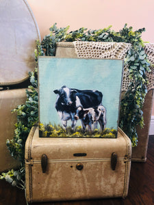 Cow and Calf Box Sign