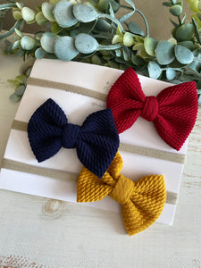 Wine/Navy/Mustard Bow Pack