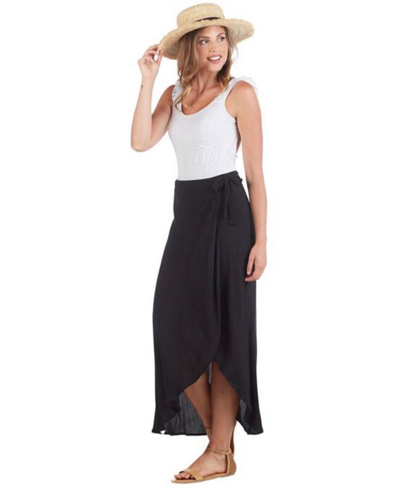 Zara Black Wrap Skirt