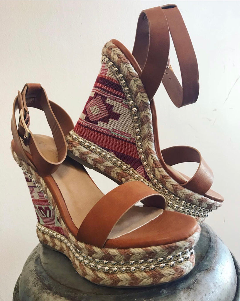 Tan Aztec Choice Wedge