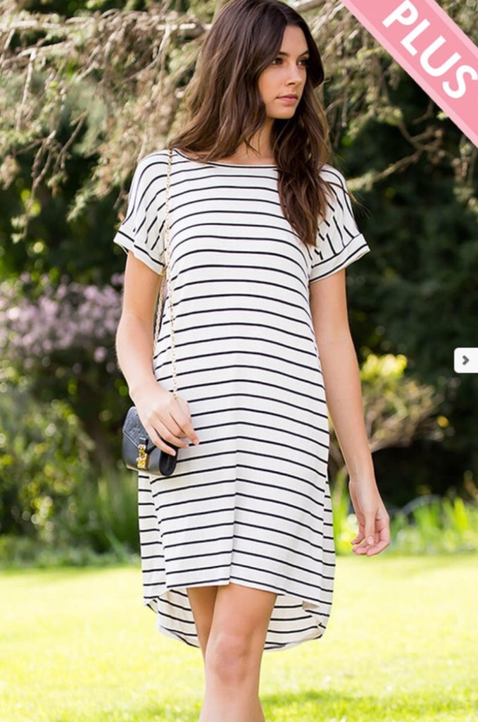 Stylish Stripe T-Shirt Dress