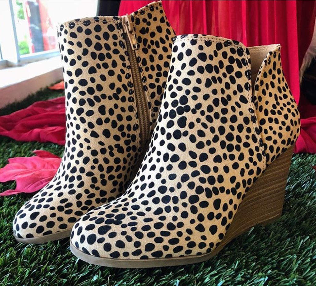 Cheetah Ability Wedge Bootie