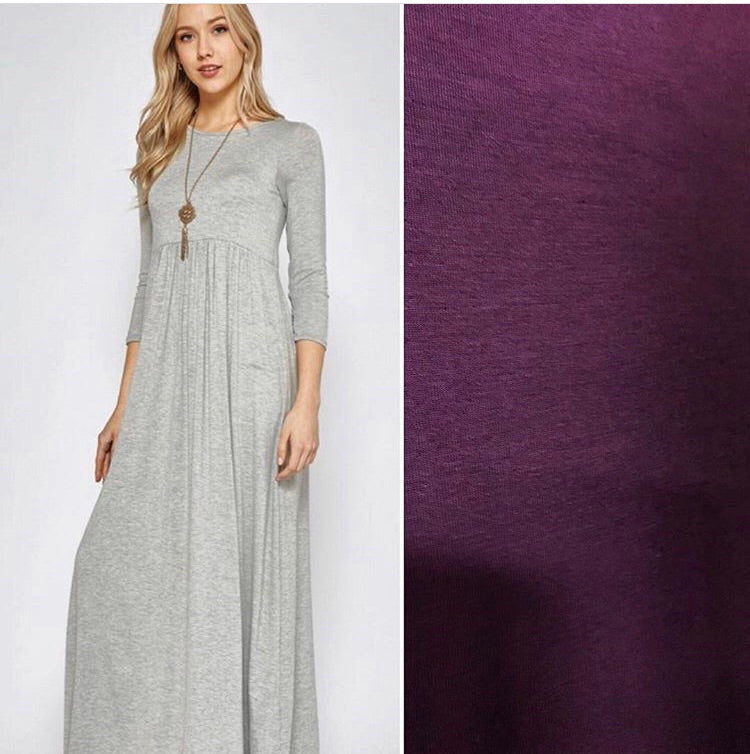 Cool Breeze 3/4 Sleeve Maxi