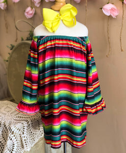 Serape Sweetheart Dress
