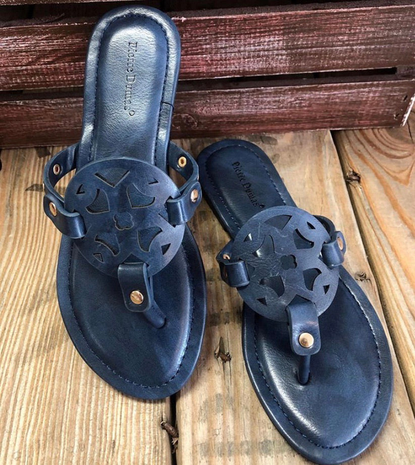 Navy Limit Sandal