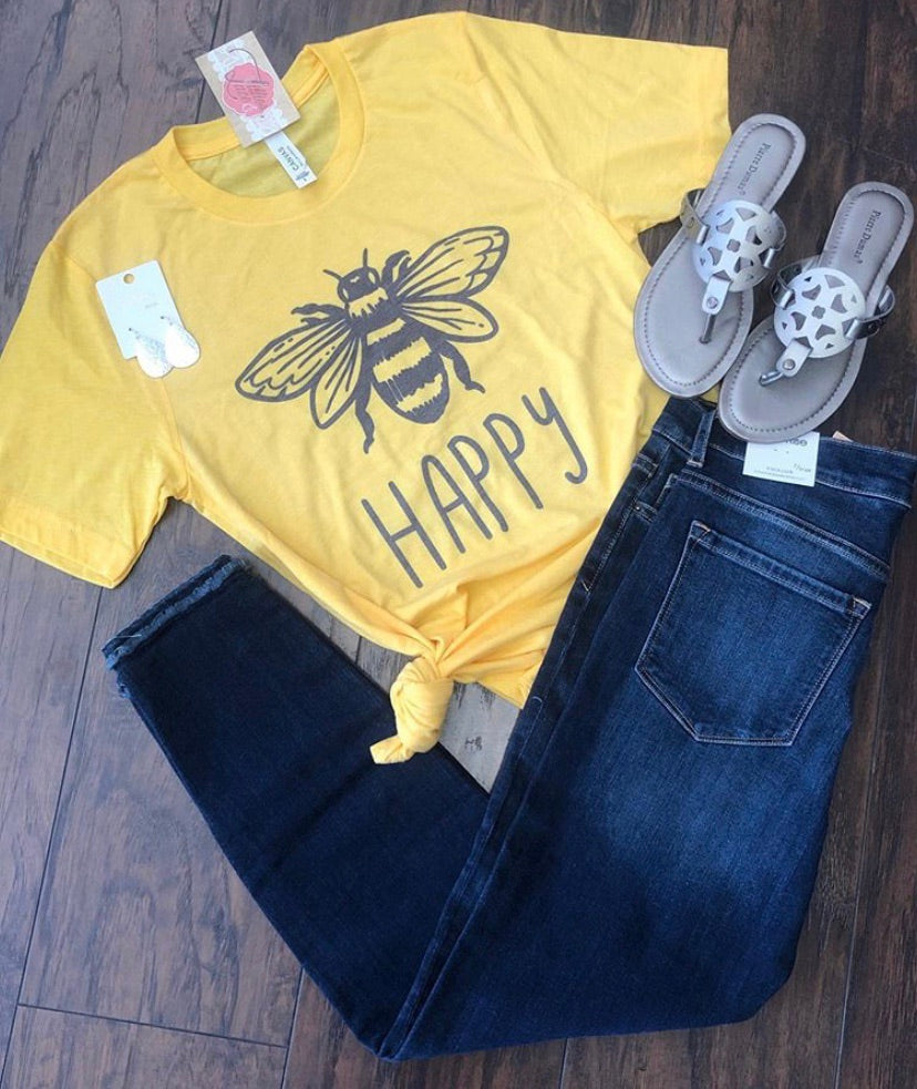 Bee Happy Honey Tee