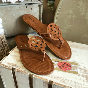 Tan Textured Limit Sandal