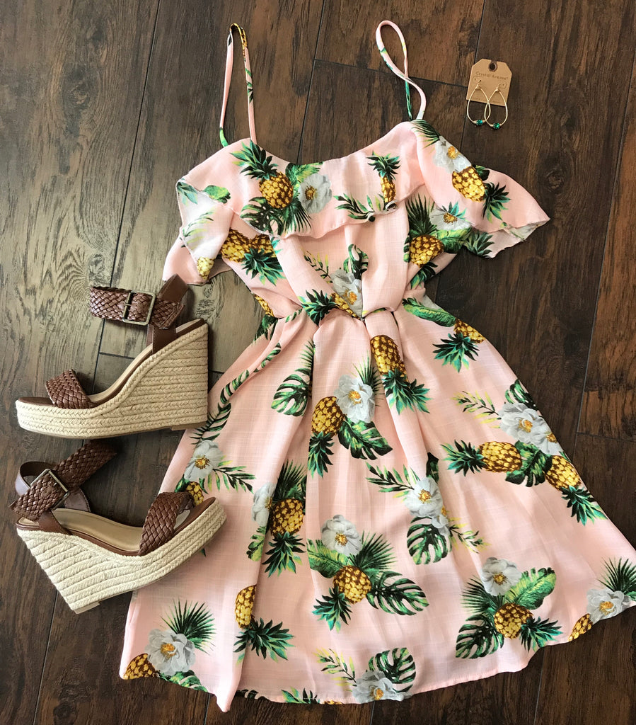 Pick Me Pineapple Dress