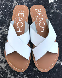 Pebble Sandal-White