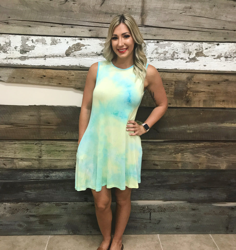 Lime Mix Tie Dye Dress