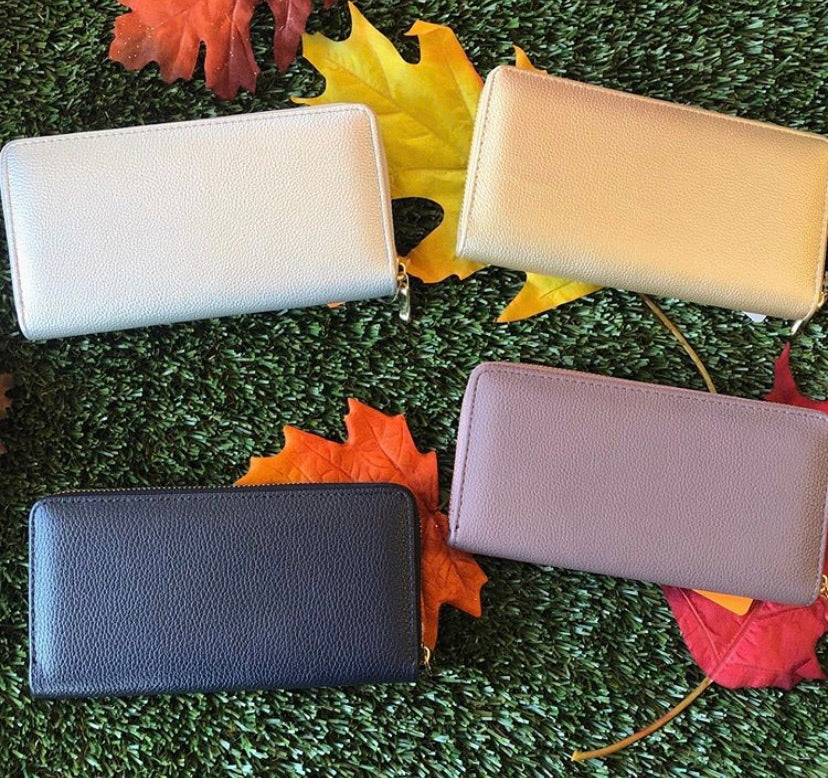 Solid Faux Leather Wallet