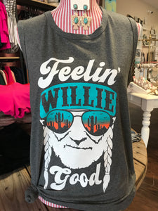 "Charcoal ""Willie Good"" Tank"