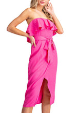 Load image into Gallery viewer, Barbie Girl Ruffle Trim Dress