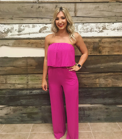 Forever Fuchsia Layered Jumpsuit
