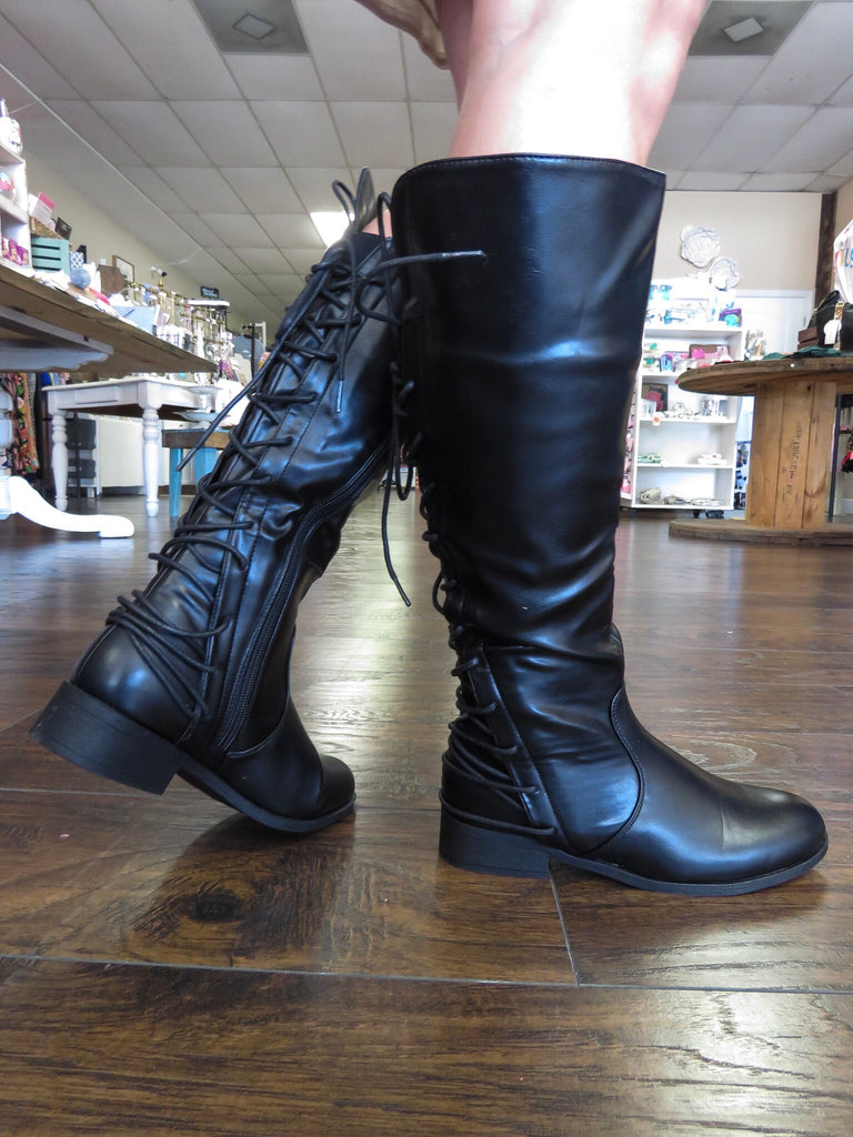 Zity Lace Up Riding Boot