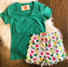 Load image into Gallery viewer, Pineapple PJ Short Set