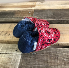 Load image into Gallery viewer, Red Paisley Low Tops
