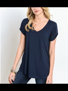 Dark Navy V-Neck Tank