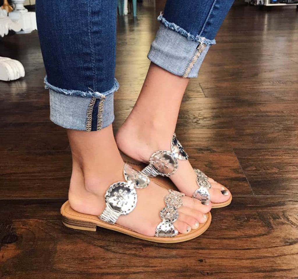 Silver Destination Sandal