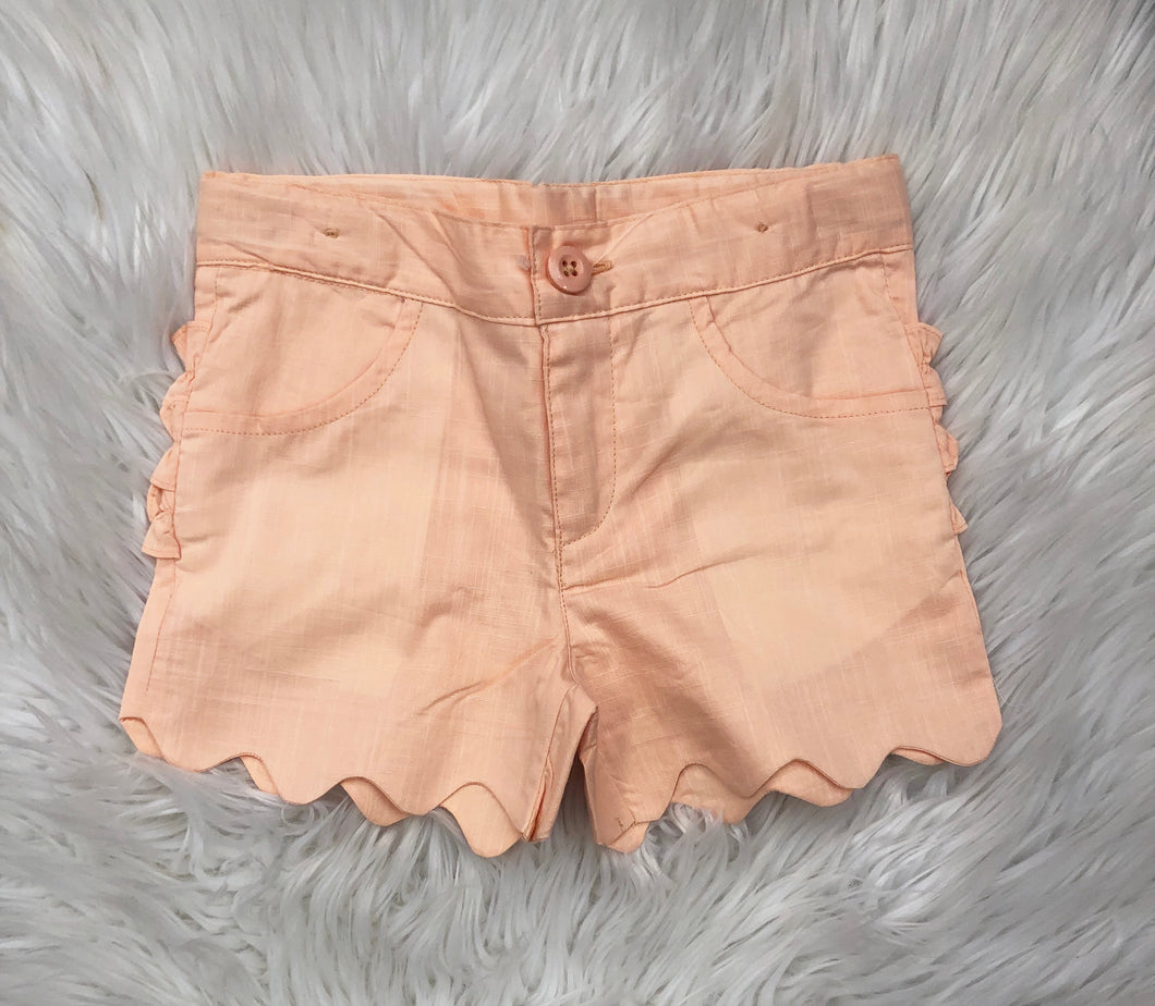 Salmon Slub Scallop Short