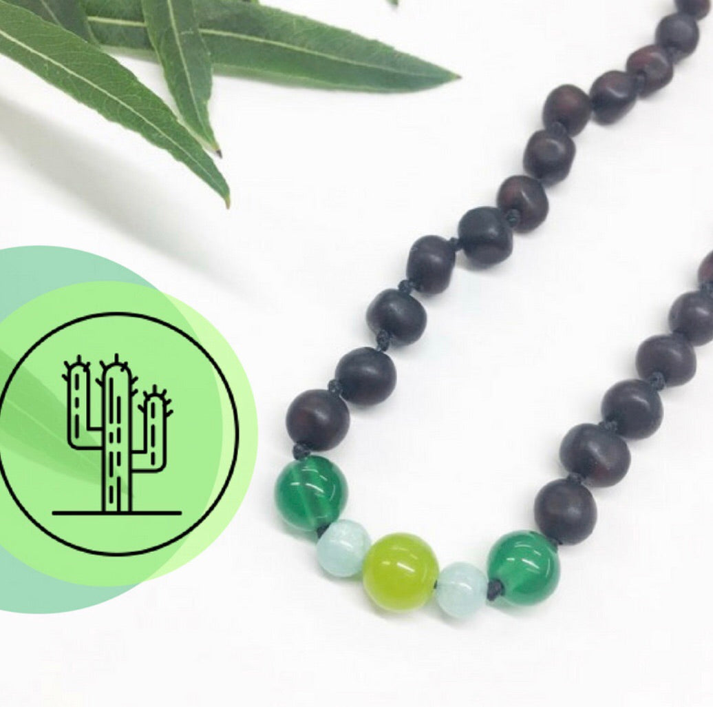 Amber Necklace-Limited Edition Cacti