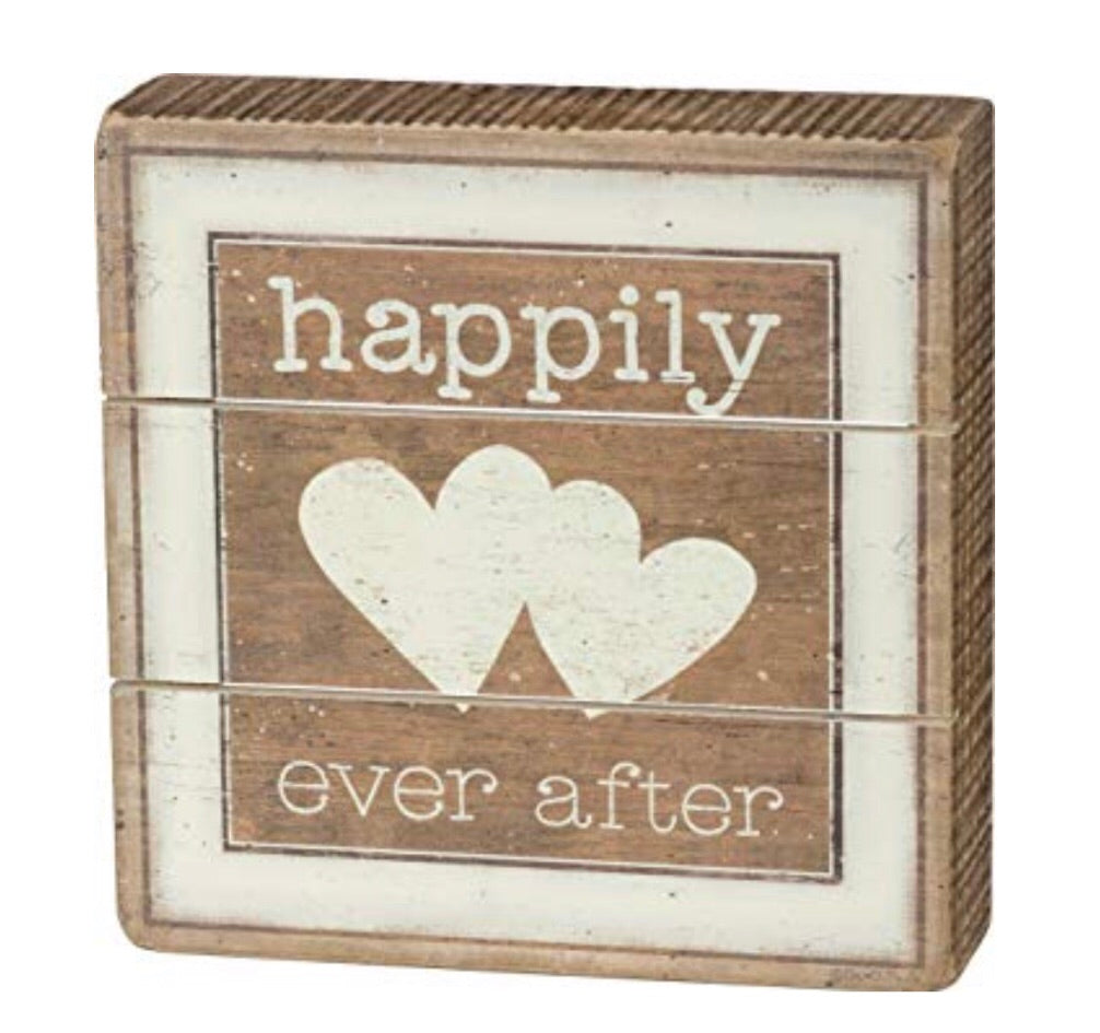 Happily Ever After Box Sign