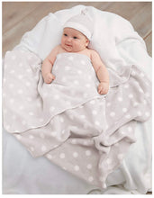Load image into Gallery viewer, Grey Sweet Baby Hat & Blanket Set