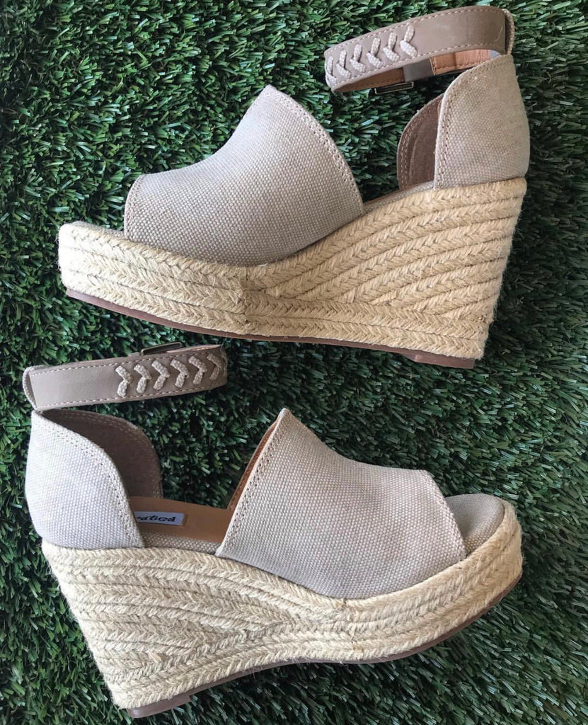 Taupe Leif Wedge