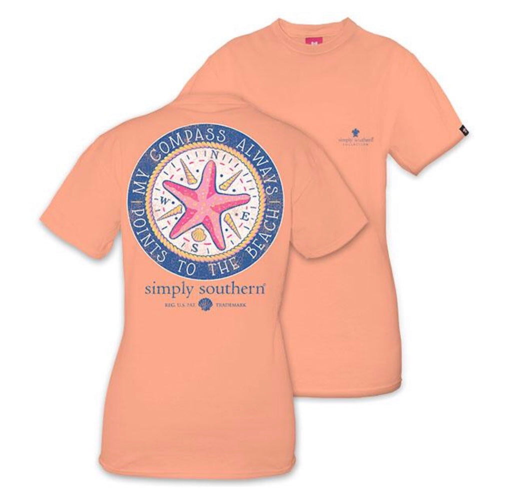 Preppy Compass- Peachy