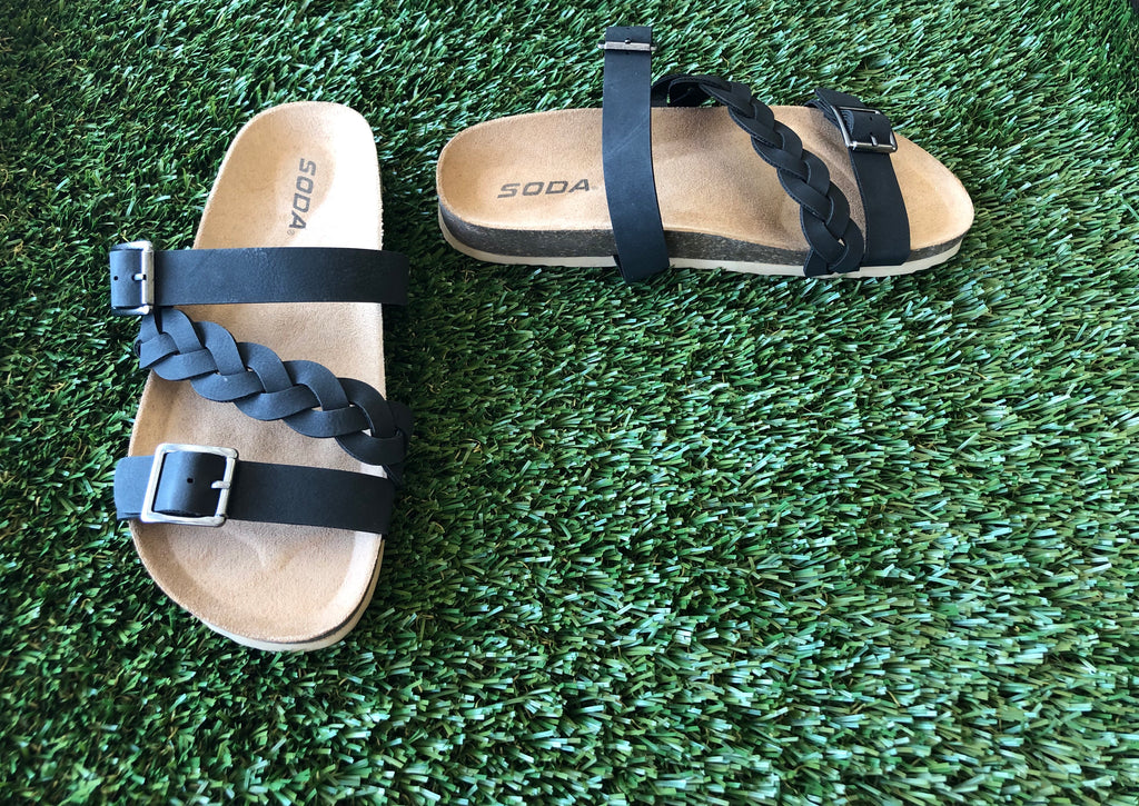 Black Make Me Sandal