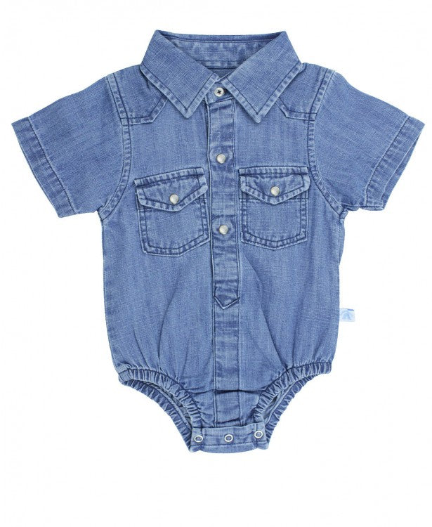 Light Wash Denim Bodysuit