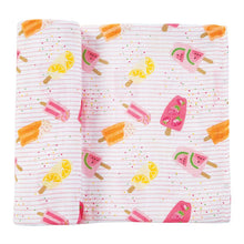 Load image into Gallery viewer, Muslin Popsicle Swaddle Blanket